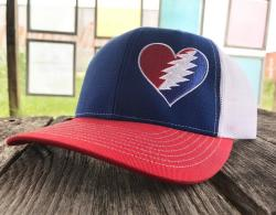 1bd42fa6941 These new Grateful Heart Hats are embroidered on RICHARDSON® Trucker  SnapBack Caps for their style and amazing fit. One Size Fits Most.