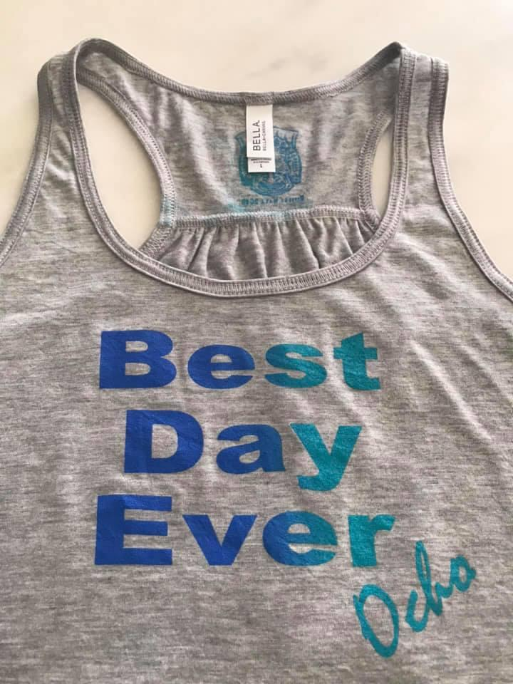 68f378aa0e8f5 The Vintage Grey Heather is printed on Flowy racerback Bella Canvas Tank  Tops and the Vintage Turquise is printed on Tri-Blend ...